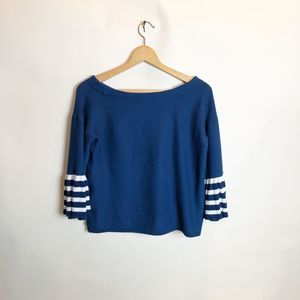 Neiman Marcus off the shoulder bell sleeve sweater